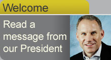 Click for a welcome message from our president